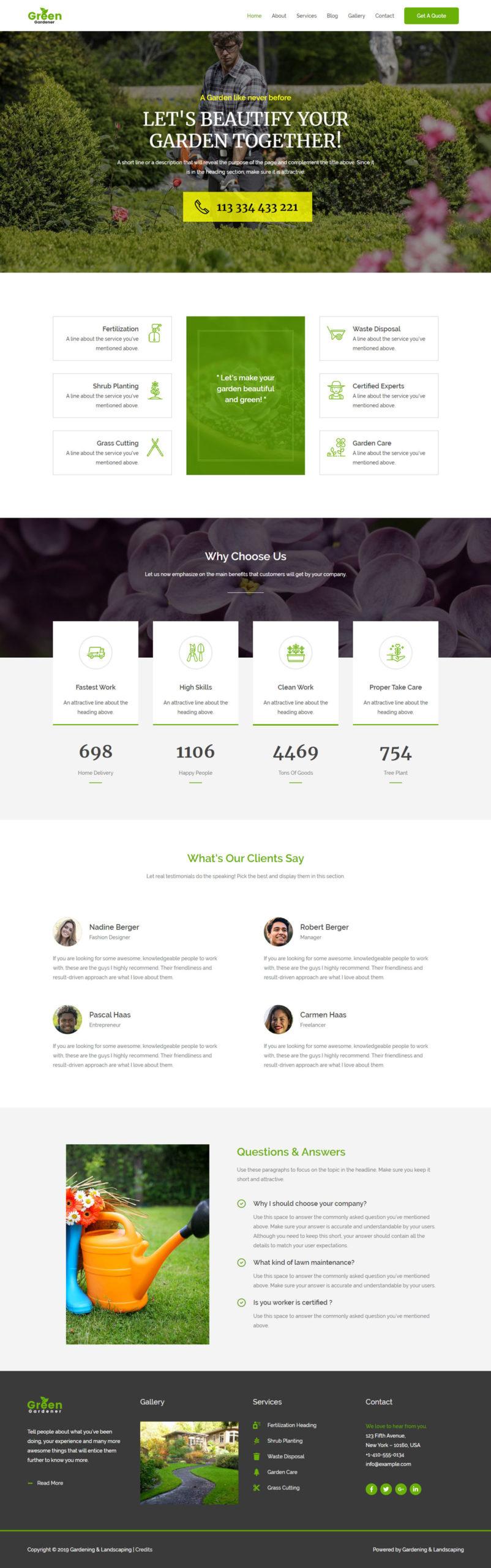 hoveniers bedrijf website maken
