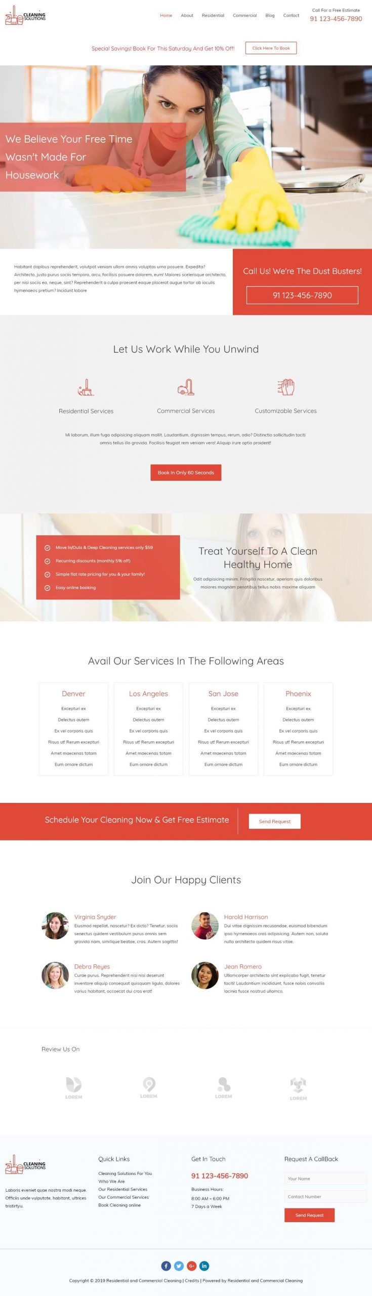 schoonmaa bedrijf website voorbeeld