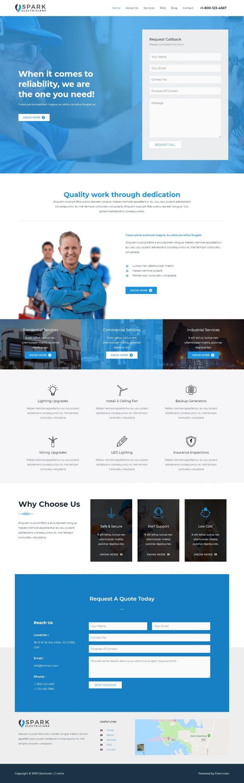 elektrischen website voorbeeld
