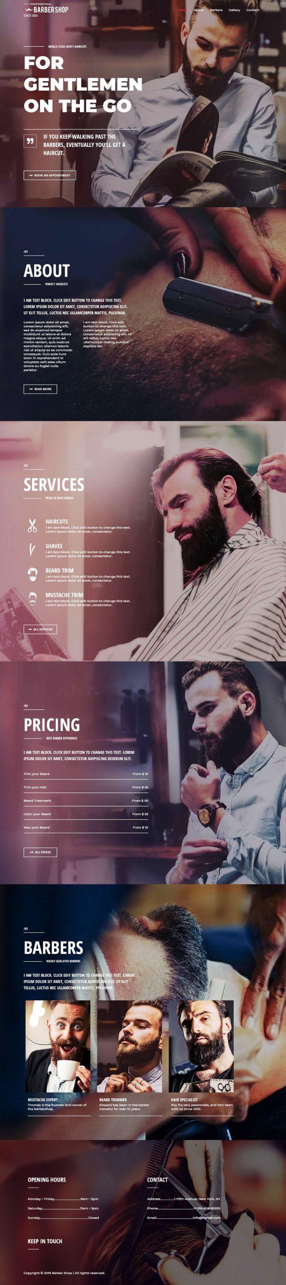 Kapperszaak website goedkoop