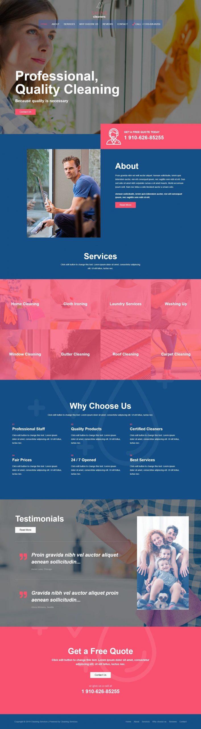 schoonmaaker website voorbeeld