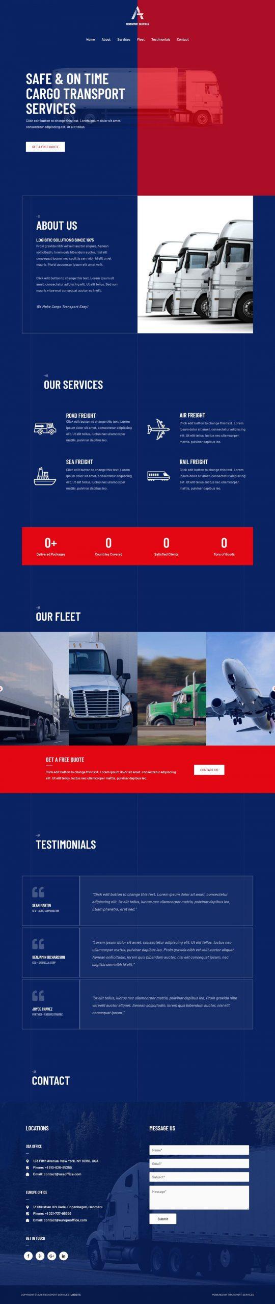 transport dienst website laten maken