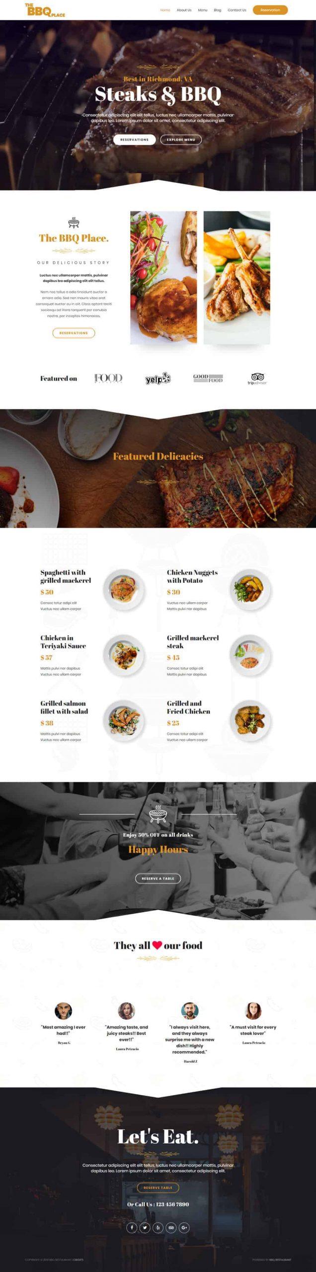 website voor restaurant laten maken