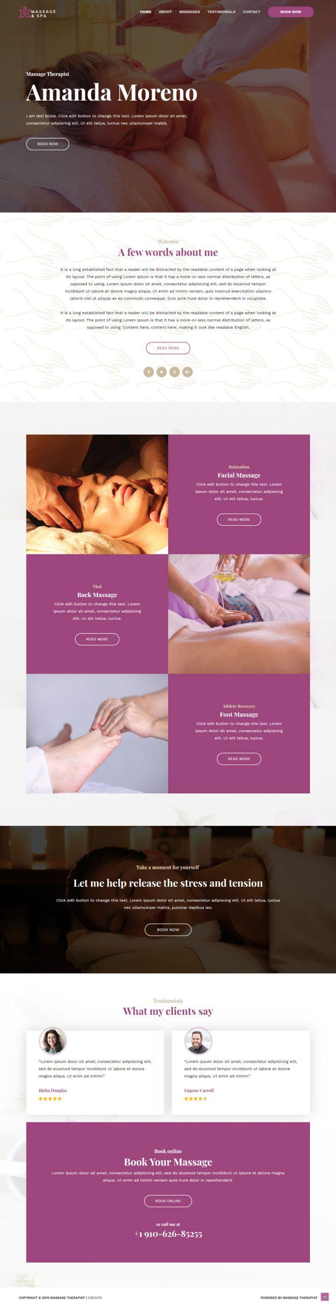 massage salon website laten maken