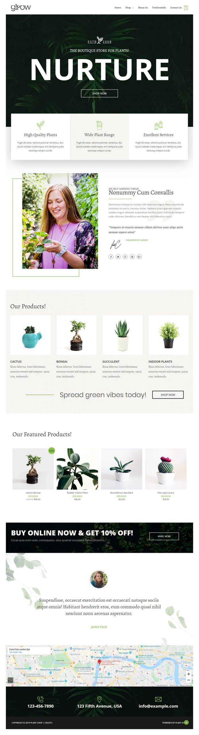 bloemen webshop voorbeeld
