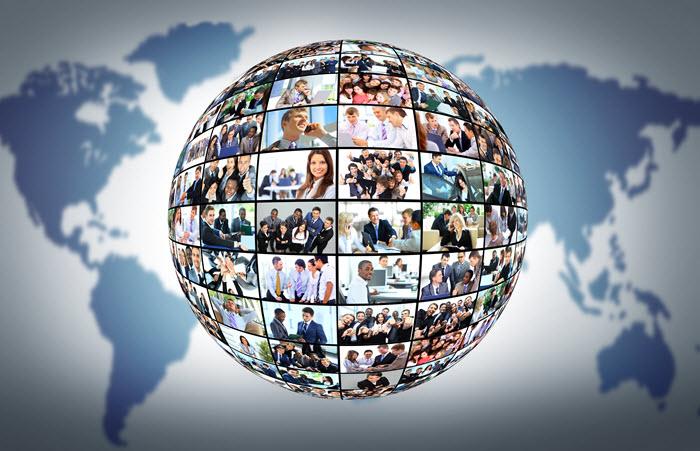 wereldbol met potentiele klanten