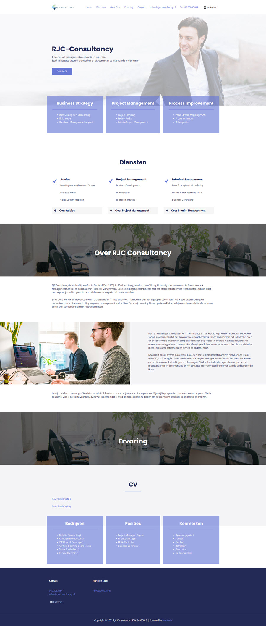 recent gemaakte website voorbeeld 2