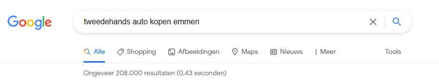 zoekresultaat longtail zoekwoord google